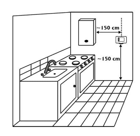 Karbonmonoksit alarm cihazı montajı